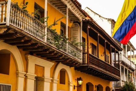 Spanish colonial house. Cartagena de Indias, Colombia's Caribbea