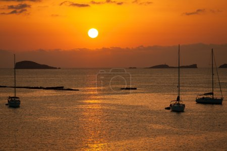Ibiza Beautiful sunset in Cala Conta, Ibiza,near San Antonio