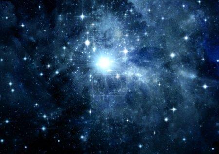 Photo pour Étoiles d'une planète et la galaxie dans un espace libre - image libre de droit