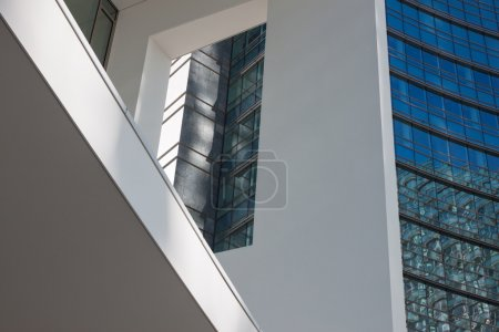 Photo for Architectural detail of modern building with windows - Royalty Free Image