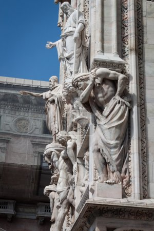 Statues on the facade of a church