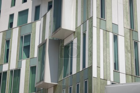 Photo for Architectural detail of a modern building of concrete and glass - Royalty Free Image