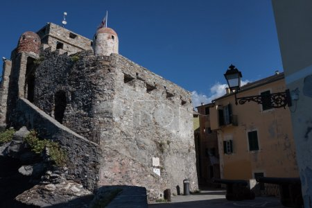 Ancient castle in the village of Camogli, Italy
