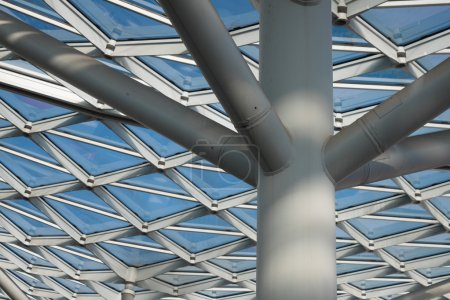 Photo for Architectural detail of a modern building with steel structure - Royalty Free Image