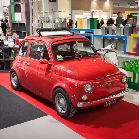 Fiat 500 car on display