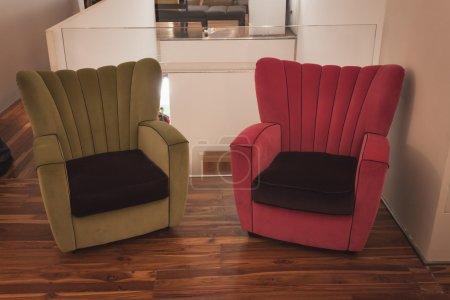 Armchairs at Ventura Lambrate space during Milan Design week