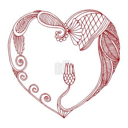 cadre coeur ornée