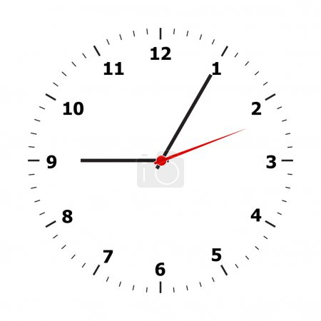 Illustration for Clock face on a white background - Royalty Free Image