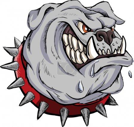 Furious bulldog