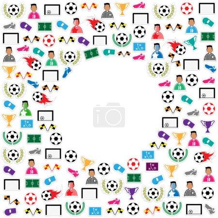 Soccer circle Icons set. Illustration eps10