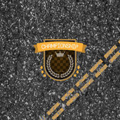 Racing stamp asphalt background in it of vector