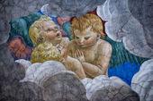 """Постер, картина, фотообои """"ангелы средневековая живопись"""""""