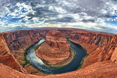 Horseshoe bend colorado river at 360 degrees near ...