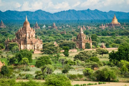 Bagan landscape with temples