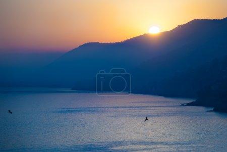 Sunset in Liguria, Italy