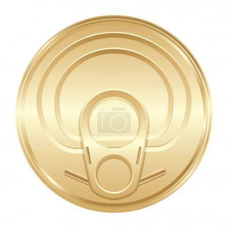 Gold color cover from soda cans. Vector....