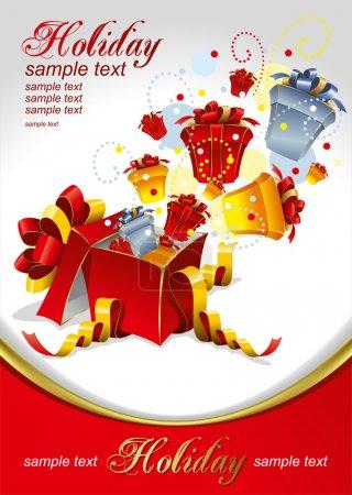 Illustration pour Illustration vectorielle modifiable des cadeaux pour les fêtes - image libre de droit