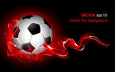 Vector fantastic soccer background