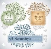 Set of eco labels in vintage style