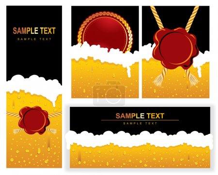 Illustration for Set of BEER Background. Vector image. - Royalty Free Image