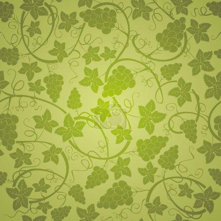 Illustration pour Vigne fond sans couture, illustration vectorielle - image libre de droit