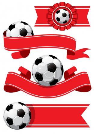 Set of Soccer design elements