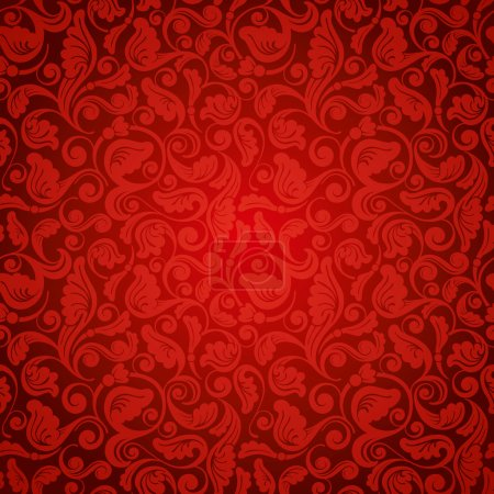 Illustration for Excellent antique wallpaper, seamless - Royalty Free Image