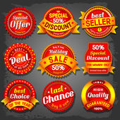 Set of luxury vector sale labels