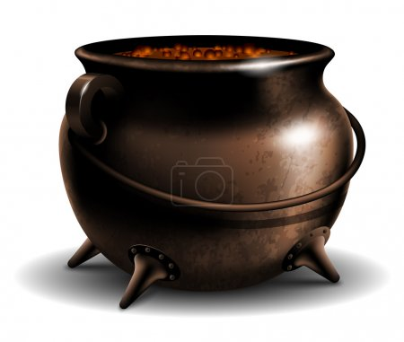 Cauldron with potion