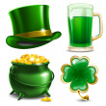 Set of St. Patrick's Day symbols. Vector illustrat...