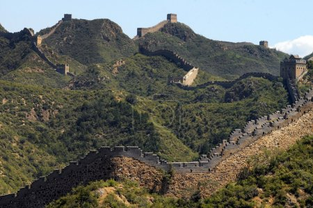 Photo for Great Wall of China. The restored section of the Great Wall at Jinshanling is 10.5 km long over 5 passes, with 67 towers and 2 beacon towers. - Royalty Free Image