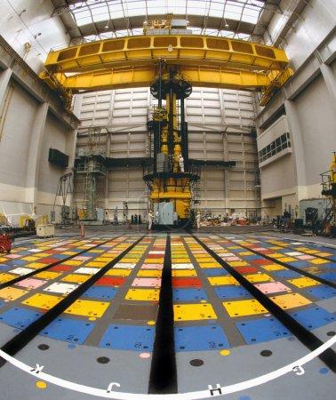 Pile Cap above a Nuclear Reactor