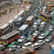 Traffic in the city of Xian in Shaaxi Province in ...