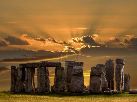 Stonehenge - Salsbury Plain - England.