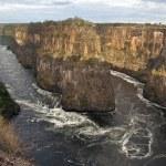 The Zambezi River gorges near Victoria Falls in Zi...