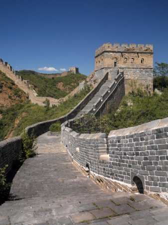 Photo for Great Wall of China. The restored section of the Great Wall at Jinshanling is 10.5 km long over 5 passes, with 67 towers and 2 beacon towers. This section of the wall has been restored to original condition. - Royalty Free Image