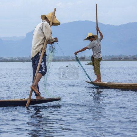 Bein Ruderer Fischer - inle lake - myanmar