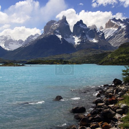 Torres del Paine National Park in Patagonia in southern Chile, South America