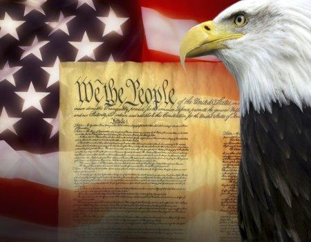 Photo pour Symboles des États-Unis d'Amérique - Constitution des États-Unis - image libre de droit
