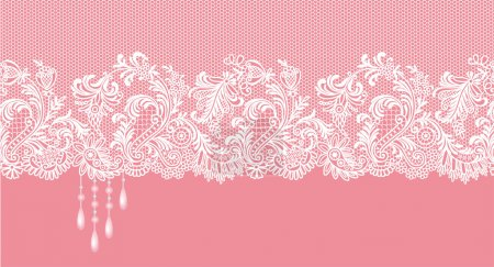 Pink lace border