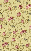Roses with volute vintage baroque pattern