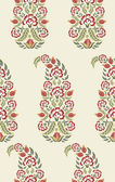 Carnations floral paisley pattern