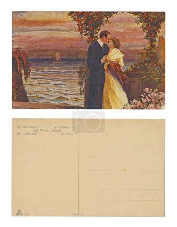 Photo pour Allemagne, berlin (?), vers 1910 - publiée par lepoarto l & p - serial no 576 - au revoir - image libre de droit