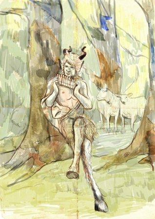 Pan the god from greek mythology