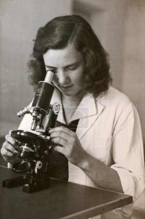 The woman behind the microscope