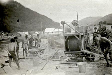 Work crew - road or railway construction