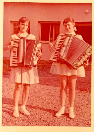 Teenagers- Girls with Accordions