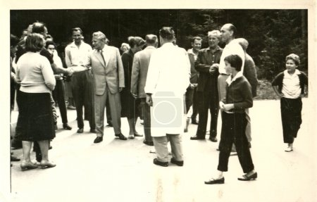 Group of people (one of a group is Antonin Novotny - President of Czechoslovakia)