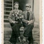 CENTRAL BULGARIA, BULGARIA - CIRCA 1945: Two young...