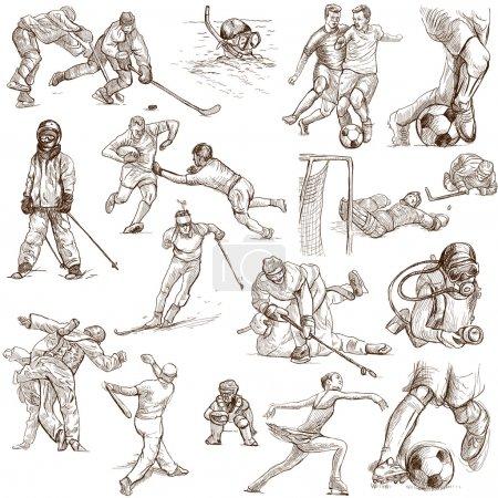 Sport - Sammlung handgezeichneter Illustrationen